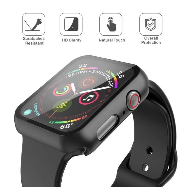 360 full Screen protector Bumper Frame matte hard Case for Apple watch 6/SE/5/4/3/2/1 cover Tempered glass film for iwatch 4/5 3