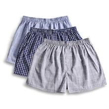 Casual plaid 100% cotton sleep bottoms men shorts sleepwear summer thin male pajamas Arrow pants men short pants S
