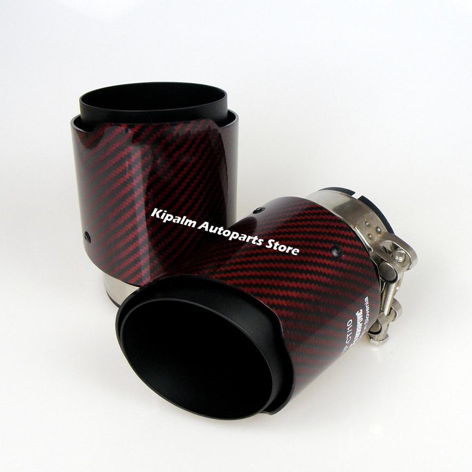 101 mm Akrapovic Embout d/échappement universel en carbone 63