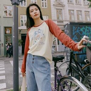 Image 3 - INMAN 2022 primavera nueva llegada literaria algodón Color a juego estampado deporte Grilish ocio Camiseta de manga larga