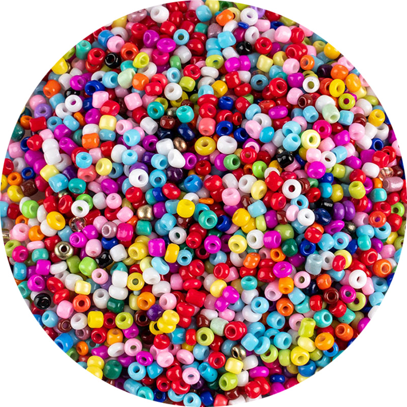 Wholesale colorful multicolor 3mm 500pcs Czech glass beads for bracelet necklace earrings jewelry DIY seed beads material(China)