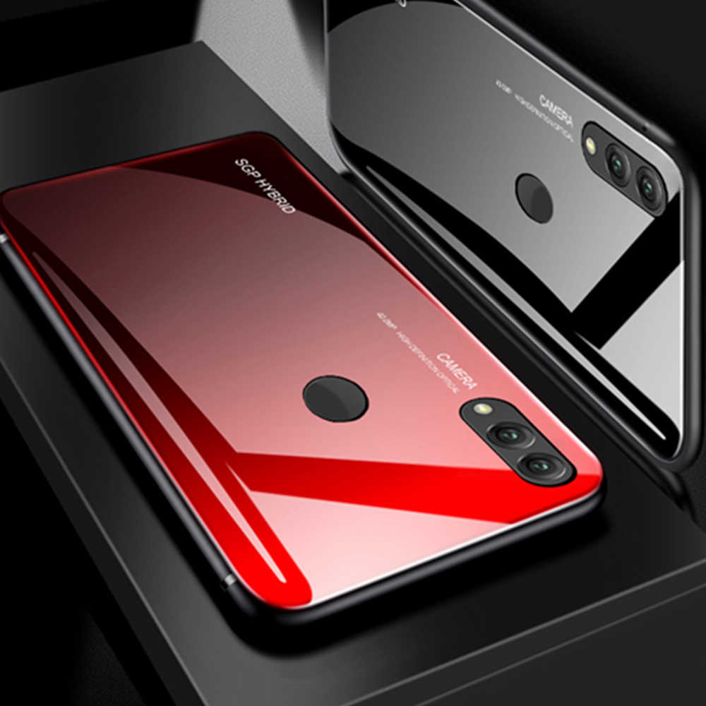 Gradient Phone Case On For Xiaomi redmi note 8 pro not 7 8 8pro 6pro Tempered Glass Cases Ksiomi resmi note7 note8 Luxury Coque