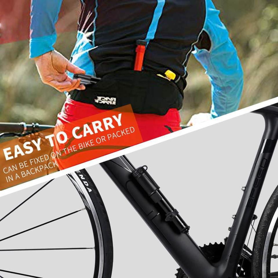 Mountain Road Bike Bicycle Pump 100PSI Ball Inflator with Mounting Bracket