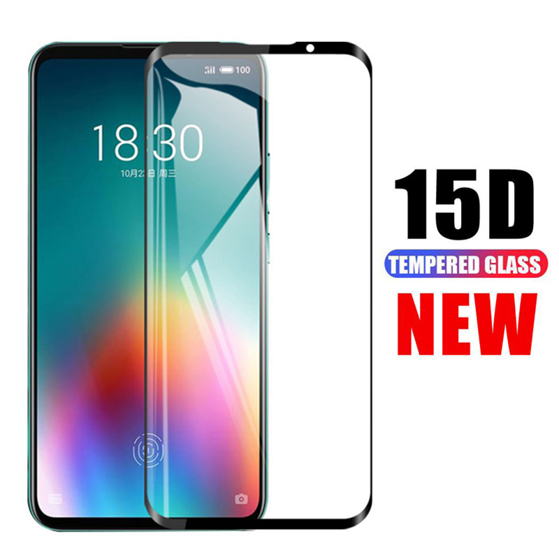 15D Protective Glass For <font><b>Meizu</b></font> <font><b>16</b></font> 16T 16TH 16X 16S 16XS Note 8 9 Screen Protector X8 V8 <font><b>Pro</b></font> M8 Lite M8C Tempered Glass Film Case image