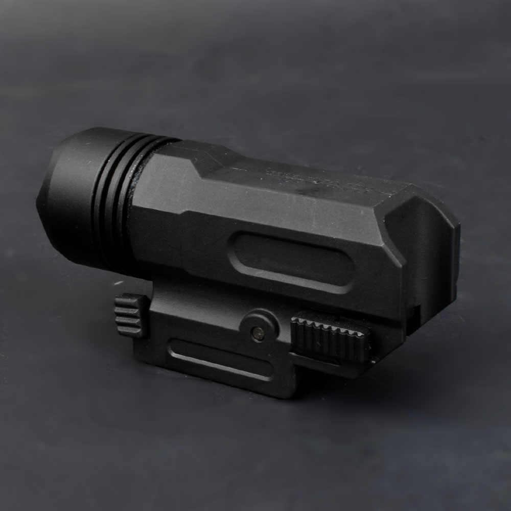 LED Shotgun Rifle Glock Pistool Flash Tactische Zaklamp Zaklamp met Release 20mm Mount voor Pistool Airsoft
