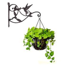 IALJ Top Hanging Plant Hook Hummingbird Cast Iron Decorative Flower Basket Wall Hanging Hooks Bracket Hanger For Indoor Outdoor(China)