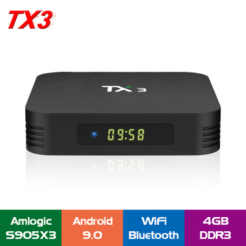 Tanix TX3 Smart TV Box S905X3 4GB RAM 32GB ROM 2.4G 5G WiFi Android 9.0 TV Box Support Voice Control Facebook