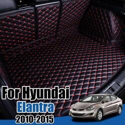 Car Boot Tray Floor Protector for Hyundai Fluidic Elantra i35 MD UD 2010 2011 2012 2013 2014 2015 Avante Cargo Liner Boot Inokom