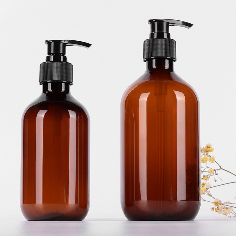 Plastic Lotion Bottles Pump Shampoo Personal Care Refillable Travel Sub-bottle Home Reuse Empty Cosmetic Containers 500ml 300ml