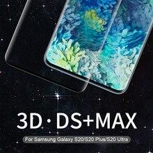 עבור סמסונג גלקסי S20 זכוכית NILLKIN 3D DS מקסימום מסך מגן עבור סמסונג S20 בתוספת לגלקסי S20 Ultra מזג זכוכית 9H בטוח
