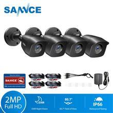 SANNCE HD 1080P กล้องวงจรปิดความปลอดภัยกล้อง 4pcs 2.0MP กลางแจ้งการเฝ้าระวังวิดีโอหน้าแรกระบบกล้องวงจรปิด