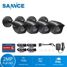 SANNCE cámaras de seguridad CCTV HD 1080P, 4 Uds., cámara de 2.0MP para exteriores, sistema de videovigilancia CCTV para el hogar