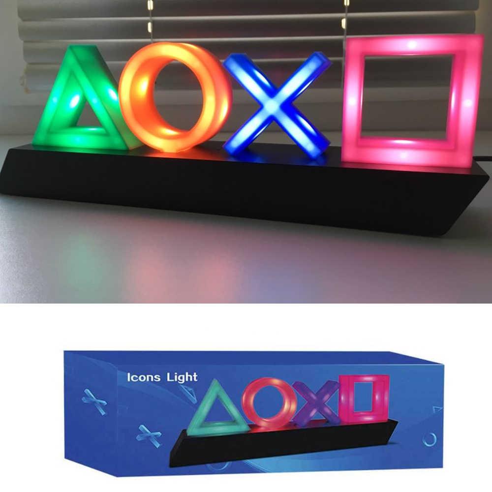 USB ضوء النيون لعبة أيقونة مصباح التحكم الصوتي عكس الضوء بار نادي KTV جدار بار جو الديكور الإضاءة التجارية ل ps4