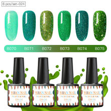 Rban Nail 7 Ml 6 Stks/set Kleur Gel Nail Lak Hybrid Vernis Sok Off Langdurige Manicure Uv Led Lamp ontwerp Nail Manicure Set(China)
