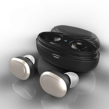 Latest TWS T12 Bluetooth Wireless Headset Bluetooth 4.1Earphone Double Wireless Earbuds Cordless Earpiece SD(China)