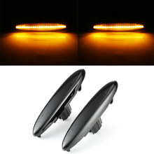 2pcs 3528SMD Side Marker LED Water Flow Turn Signal Light Lamp For Toyota Lexus IS250 IS350 Car