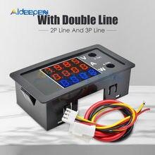 Voltímetro de coche Digital de alta precisión DC100V 10A 1000W, amperímetro, indicador de voltaje de motocicleta de 4 dígitos, medidor de corriente con cable