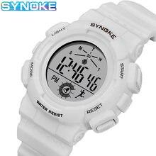 Synoke детские часы модные красочные светодиодные повседневные