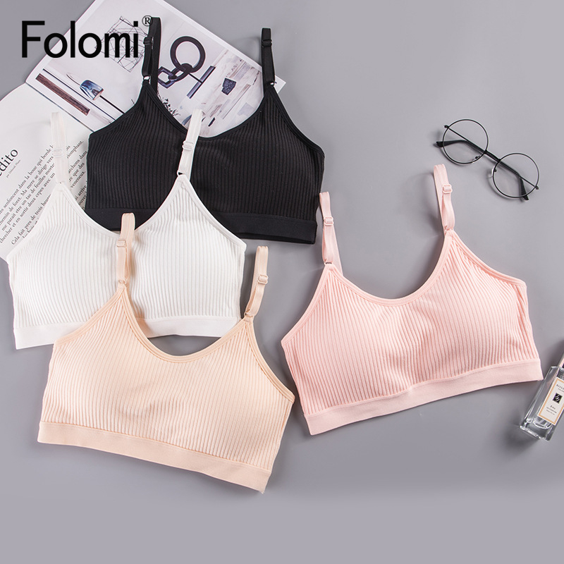 Cotton Bralette Tube Top Bras for Women Breathable Sleeping Brassiere Underwear 4
