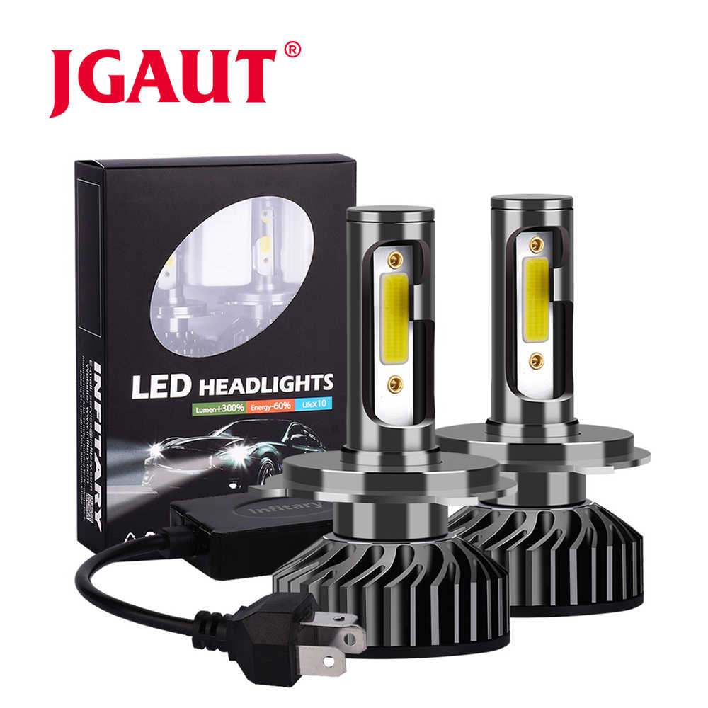 JGAUT Car Headlight H7 LED H4 LED H1 H11 H3 H13 H27 880 9006 9007 72W 8000LM 6500K 12V 24V Auto Headlamp COB Fog Light Bulb