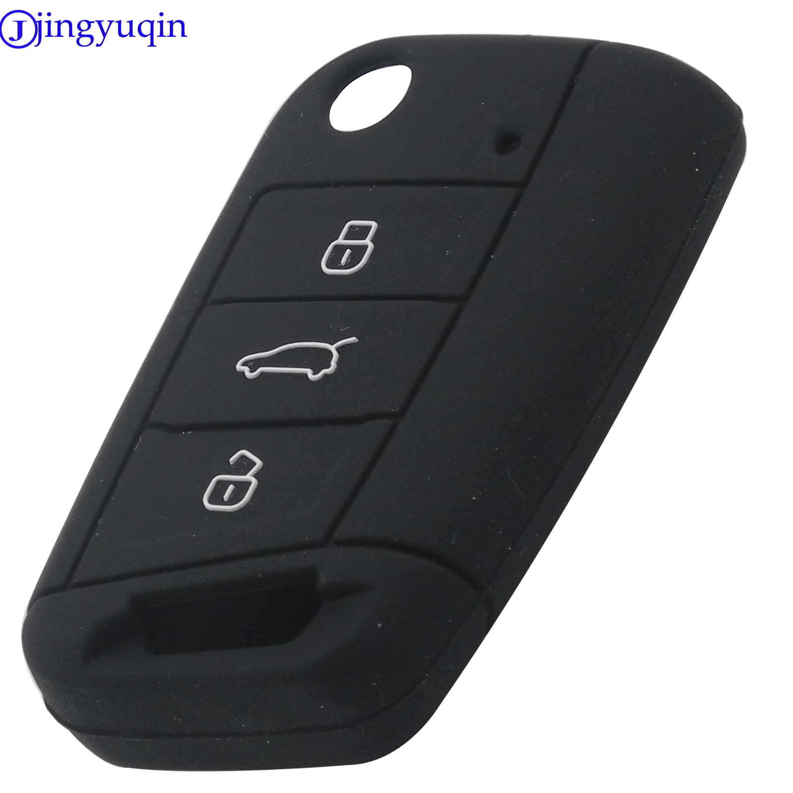 jingyuqin New <font><b>Remote</b></font> Car <font><b>Key</b></font> Silicone Case Cover Protector For Volkswagen VW <font><b>Golf</b></font> <font><b>7</b></font> Skoda Octavia A7 3 Button Flip <font><b>Key</b></font> Fob image