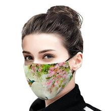 Dorosły modny druk maska tkaniny maski na twarz kobieta maski zmywalny maska zachować maski wielokrotnego użytku maski dla dzieci powiesić maski maski filtracyjne tanie tanio Poliester NONE Chin kontynentalnych WOMEN Cartoon