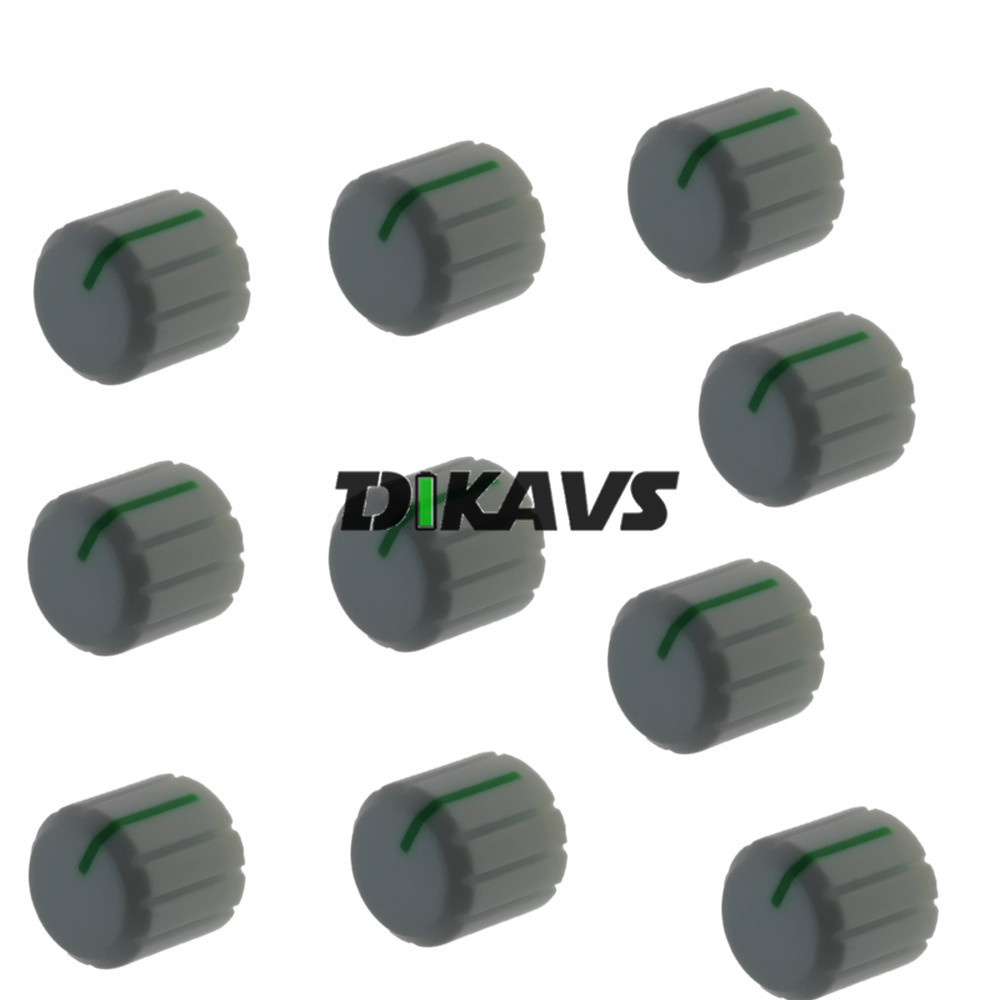 10pcs Rotary Encoder Potentiometer 6mm Shaft Knob Volume Control Knob Amplifier Knobs 15 X 13mm