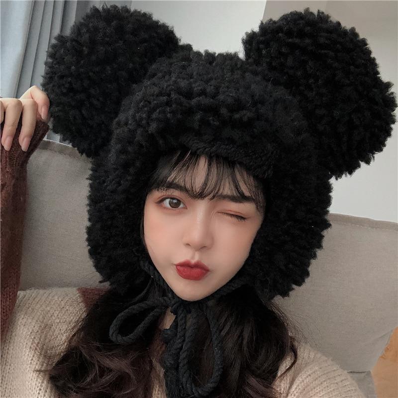 Для женщин зимнее Детское пальто из толстого плюша; Теплая шапка-ушанка с милыми медвежьими ушками, повседневное Хлопковое платье, ветронеп...