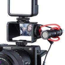Uchwyt do kamery z klapką UURig z trzema mocowaniami na zimno do mikrofonu światło led do kamery