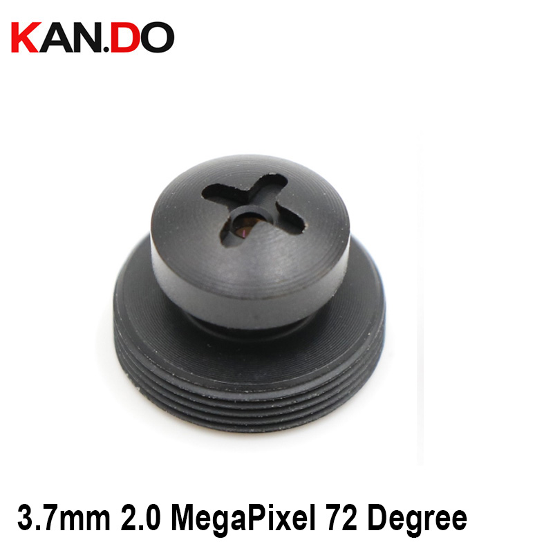 Black Screw CCTV Camera 3.7mm Lens 2.0 MegaPixel Wide-angle 72 Degree MTV M12 X 0.5 Mount Button Lens For CCTV Security Camera