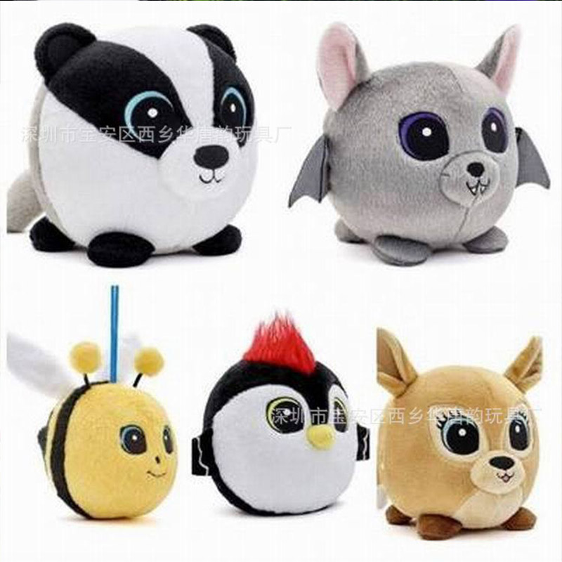 Funny Sweetie Animal Plush Toy Badger Bat Deer Woodpecker Little Bee Stuffed Dolls Kid Christmas Birthday Gift Gang Slodziakow