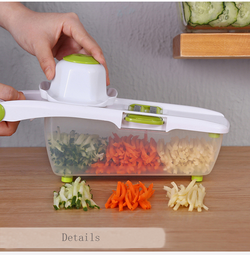 Mandoline Slicer and Vegetable Cutter With 8 Pieces Stainless Steel Blade Used as Kitchen Tool 4