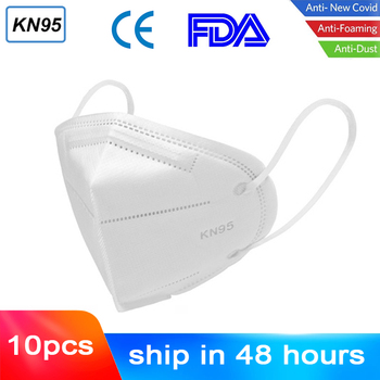 1/10pcs N95 Mouth Masks 6 Layers Respirator Anti PM2.5 Protective Mask Bacteria Proof Anti Infection Particulate FFP2 3 CE/FDA 1