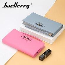 цена Baellerry Wallet Bow n Rope Long Wallet PU Leather Zipper Porta Clutch Bag Interior Zipper Pocket Smartphone Card Holder Wallet в интернет-магазинах