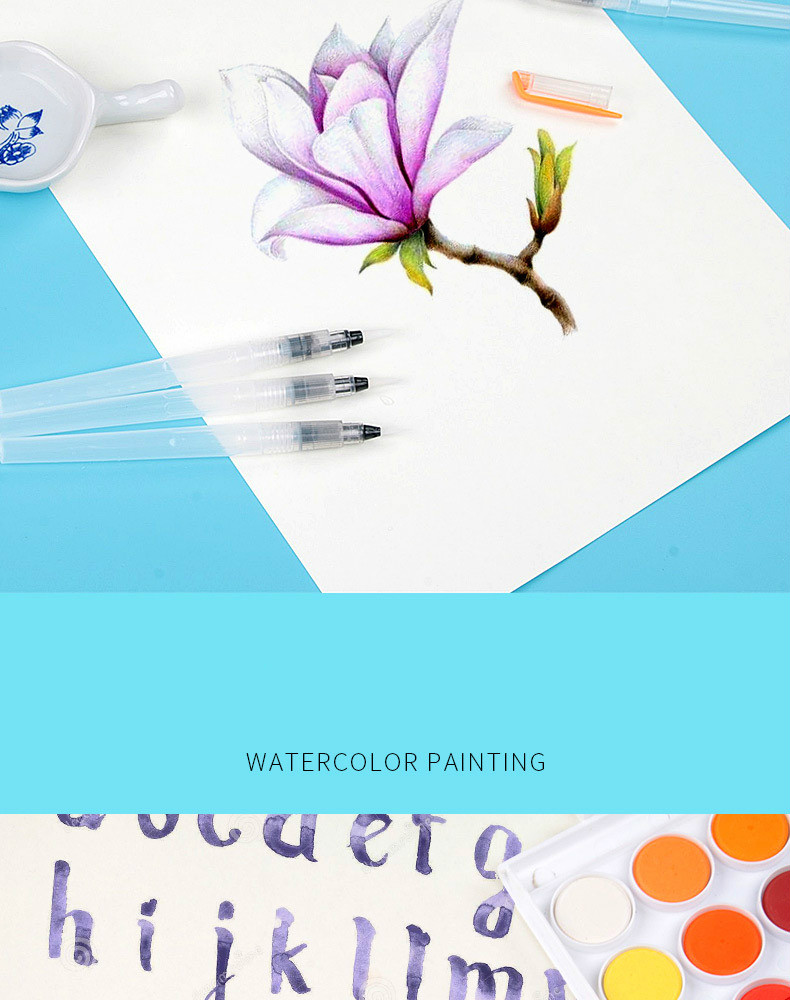 Ha35131dcf387461fb39565e1000e5052Z - 1PC Portable Paint Brush Water Color Brush Pencil Soft Watercolor Brush Pen for Beginner Painting Drawing Art Supplies