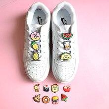 2021 New 1pcs Fruit Decoration Shoe Charms Pvc Croc Charms Decoration For Bracelets Wristbands Adult Kids Jibz Shoes Accesories