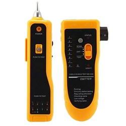 Wykrywacz przewodów  tester kabli Rj11 Rj45 do testowania kabli sieciowych Lan kabel ethernet  linia telefoniczna do testowania przewodów telefonicznych na