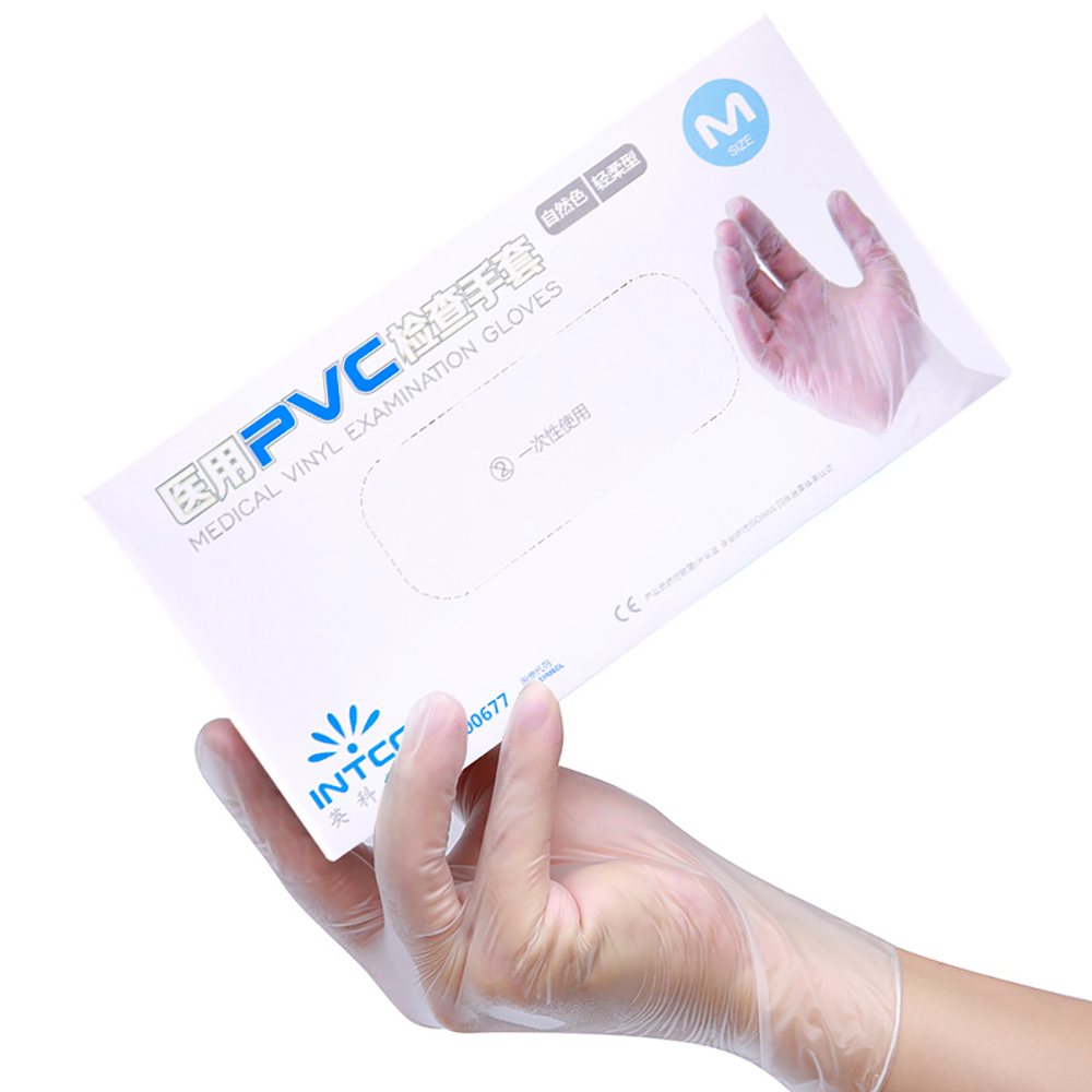 Image 4 - Medical disposable examine gloves 100pcs/box Anti static PVC gant  latex jetable Gloves For Food Cleaning Gloves AccessoriesBraces