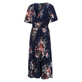 Large Size Women Dress Vintage Floral Printed Tunic Big Swing Dress V-neck High Waist Plus Size Ankle-length Dresses Women #T1G 4