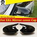 Для BMW 1 серии E82 118i 120i 125i 130i боковое зеркало крышки M3 вид ABS глянцевый черный 1 м добавить на стиль 1:1 замена 2007-09