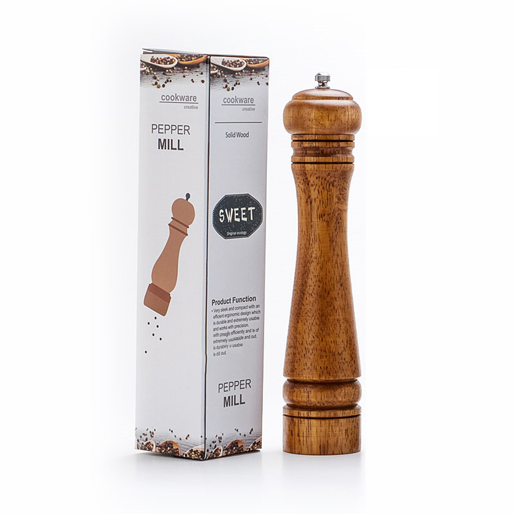 Pepper Mill Salt Ceramic Grinder Kitchen-Tools Solid-Wood And with Strong Adjustable title=