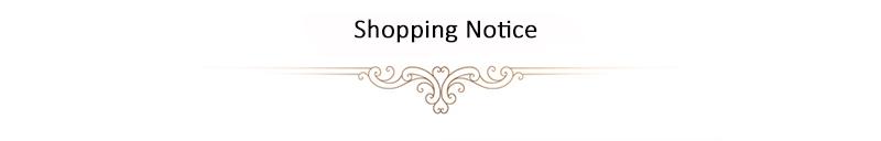 Shopping notice