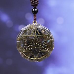 Image 2 - Orgonite pendentif en cristal énergétique Labradorite, Reiki, collier avec les pierres de Chakra, pendentif en cristal Aura, élimine lénergie négative