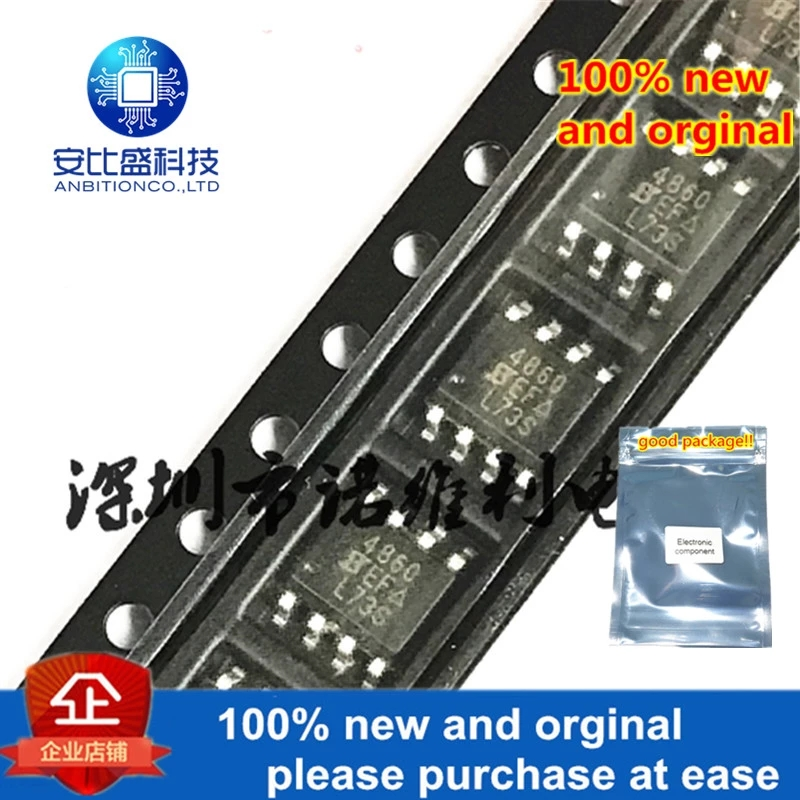 10pcs 100% New And Orginal SI4860DY-T1-E3 SOP-8 SI4860 4860 30V 11A In Stock