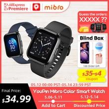 [Мировая премьера] YouPin Mibro Color Смарт часы , 5 АТМ Водонепроницаемые, Монитор кислорода в крови, Аккумулятор 270 мАч, Смарт часы для женщин мужчи...