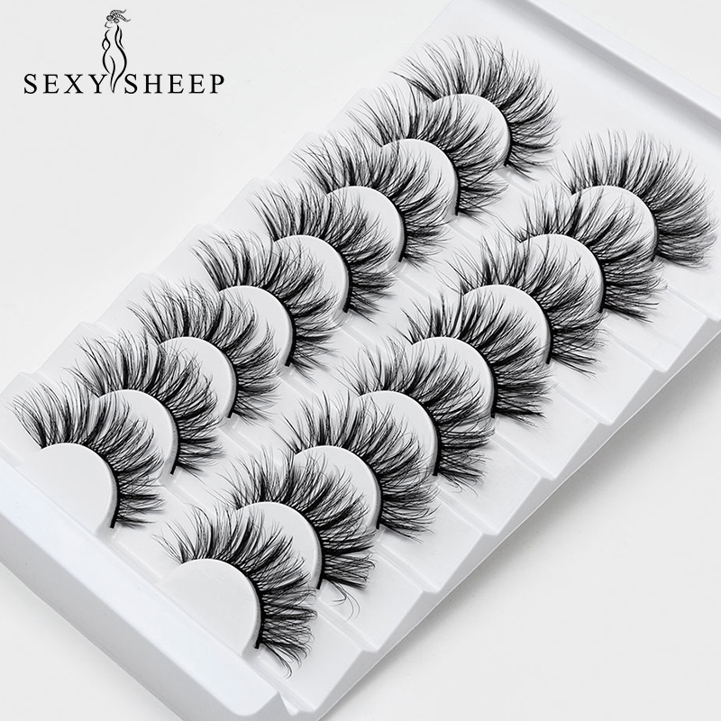New 8 Pairs Natural False Eyelashes Fake Lashes Long Makeup 3d Mink Lashes Eyelash Extension Faux Mink Eyelashes For Beauty