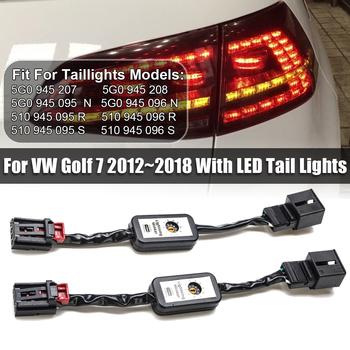 Nowy 2 sztuk czarny dynamiczny włącz wskaźnik sygnału tylne światło LED dodatkowy kabel modułu drutu Harnes dla VW Golf 7 lewy i prawy ogon światła tanie i dobre opinie RUPO Dekoder CN (pochodzenie) Volkswagen
