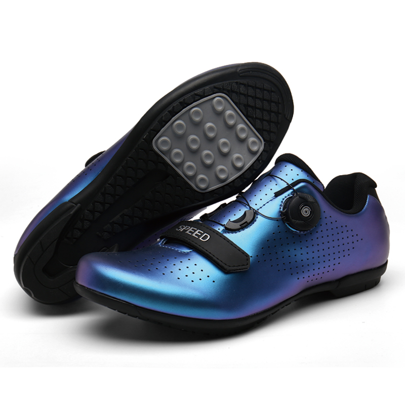 MTB Cycling Shoes SPD Cleat Pedal Set Professional Outdoor Athletic Racing Bike Shoes Self-locking Bicycle Shoes Sneakers