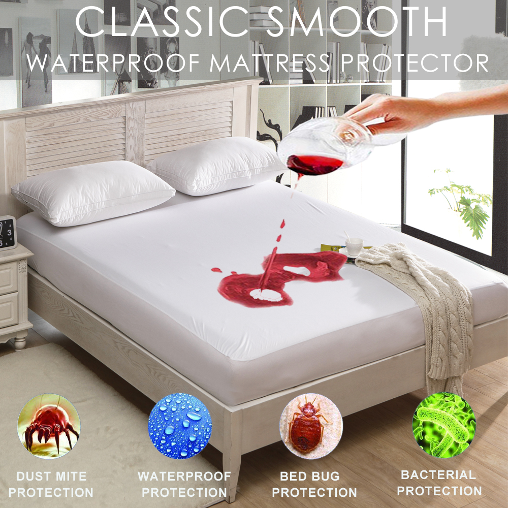 Mattress Protector Waterproof Bamboo Queen Hypoallergenic Fitted Pad Cover NEW