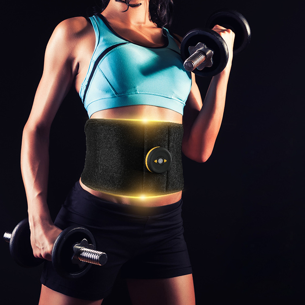 Abdominal Vibration Electric Body Slimming Toning Belt Muscle Stimulate Gym Massage Trainer Shaping Home Fitness Waist Support